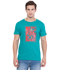 Turquoise Color Cotton T-Shirt