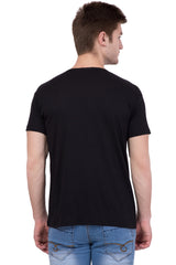 AMERICAN ELM- Black Color Round Neck Mad T-Shirt - HSPT-C10RED
