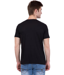 AMERICAN ELM- Black Color Cotton T-Shirt - HSPT-C11SKBL
