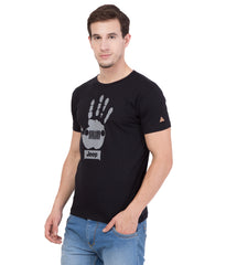 AMERICAN ELM- Black Color Cotton T-Shirt - HSPT-C15GRY