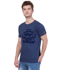 AMERICAN ELM- Navy Blue Color Cotton T-Shirt - HSPT-D11NBL