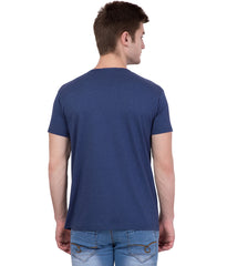 AMERICAN ELM- Navy Blue Color Cotton T-Shirt - HSPT-D11PNK