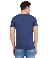 AMERICAN ELM- Navy Blue  Color Cotton T-Shirt - HSPT-D16GRY