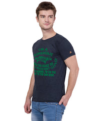 AMERICAN ELM- Navy Blue Color Cotton T-Shirt - HSPT-E11GRN