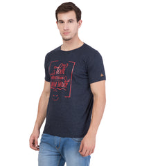 AMERICAN ELM- Navy Blue  Color Cotton T-Shirt - HSPT-E17RED