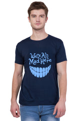 Navy Blue Color Printed  T-Shirt