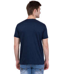 AMERICAN ELM- Navy Blue Color Cotton T-Shirt - HSPT-F11BLK