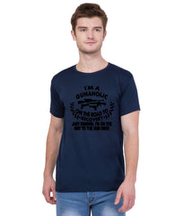 Navy Blue Color Cotton T Shirt