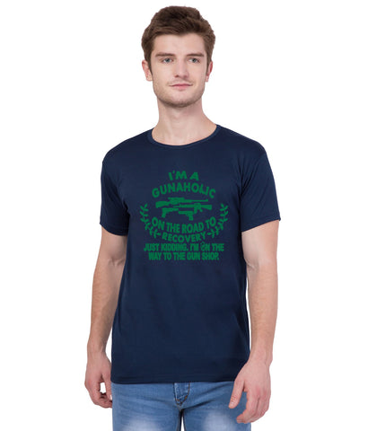 AMERICAN ELM- Navy Blue Color Cotton T-Shirt - HSPT-F11GRN