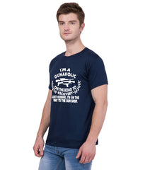 AMERICAN ELM- Navy Blue Color Cotton T Shirt - HSPT-F11WHT