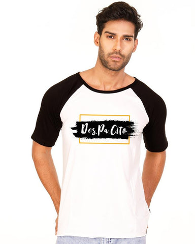 Black and White Color Cotton Mens T-Shirt - HTTS1007