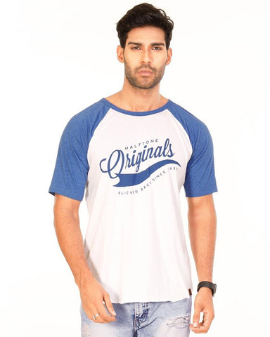 RoyalBlue Color Cotton Mens T-Shirt - HTTS1018