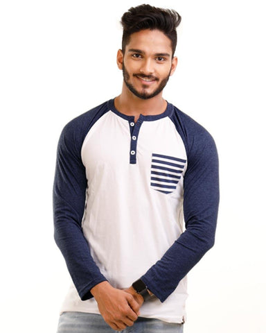 NavyBlue Color Cotton Mens T-Shirt - HTTS1021