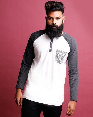 Charcoal Melange Color Cotton Mens T-Shirt - HTTS1023