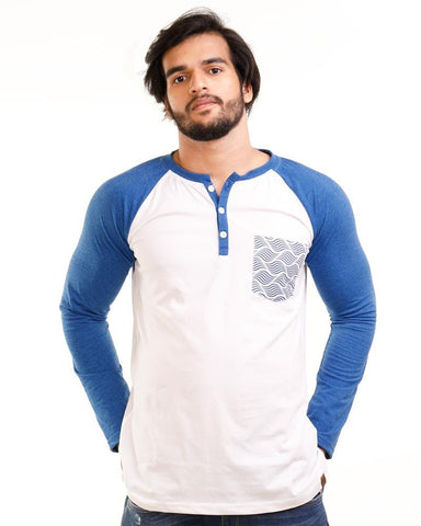 RoyalBlue Color Cotton Mens T-Shirt - HTTS1026
