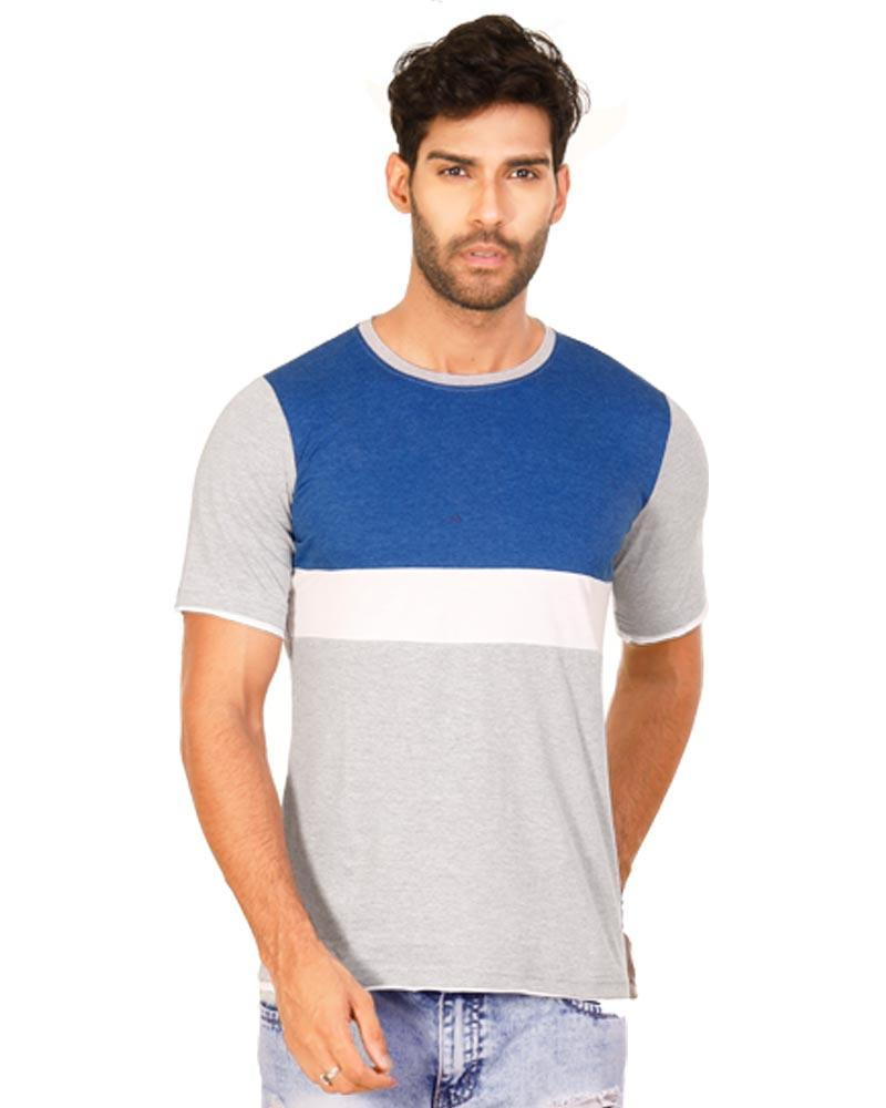 RoyalBlue Color Cotton Mens T-Shirt