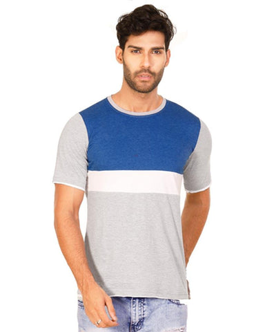 RoyalBlue Color Cotton Mens T-Shirt - HTTS1031