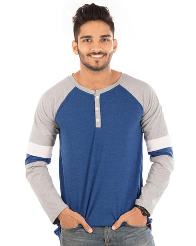 RoyalBlue Color Cotton Mens T-Shirt - HTTS1032