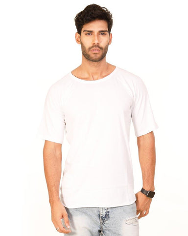 White Color Cotton Mens T-Shirt - HTTS1035