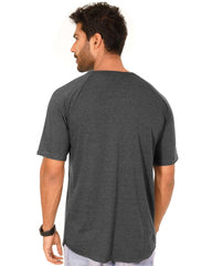 Charcoal Melange Color Cotton Mens T-Shirt - HTTS1037