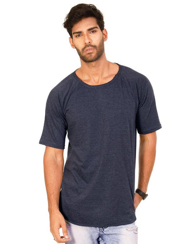 NavyBlue Color Cotton Mens T-Shirt - HTTS1038