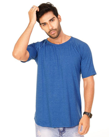 RoyalBlue Color Cotton Mens T-Shirt - HTTS1039