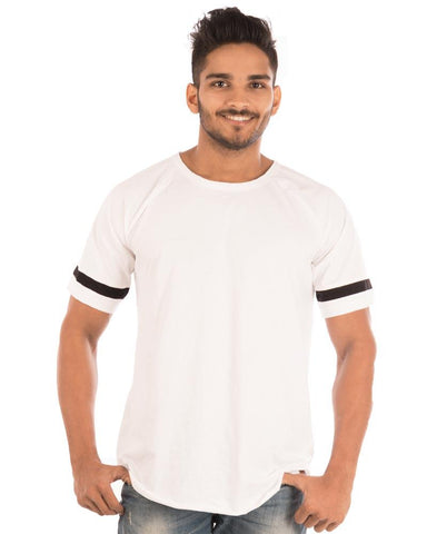 White Color Cotton Mens T-Shirt  - HTTS1040