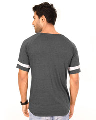 Charcoal Melange Color Cotton Mens T-Shirt - HTTS1042