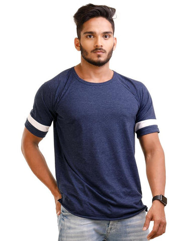 NavyBlue Color Cotton Mens T-Shirt - HTTS1043
