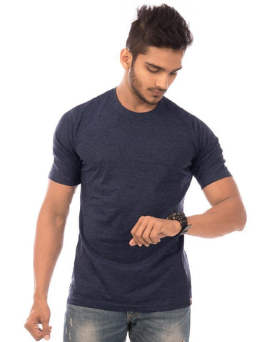 NavyBlue Color Cotton Mens T-Shirt - HTTS1048