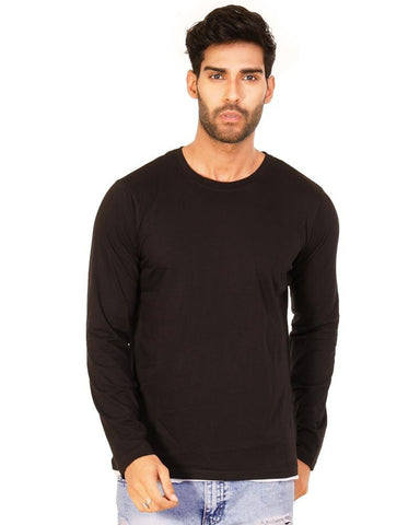 JetBlack Color Cotton Mens T-Shirt - HTTS1051