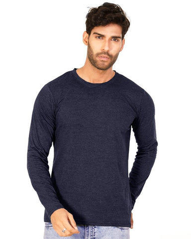NavyBlue Color Cotton Mens T-Shirt - HTTS1053