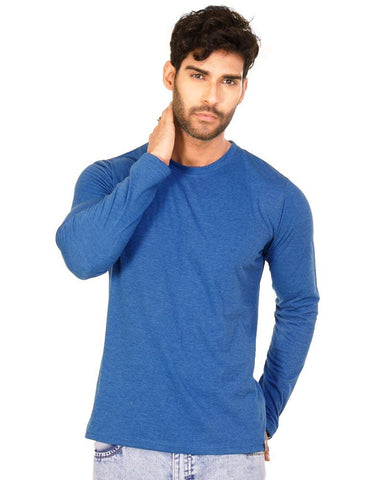 RoyalBlue Color Cotton Mens T-Shirt - HTTS1054