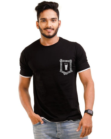 JetBlack Color Cotton Mens T-Shirt - HTTS1057