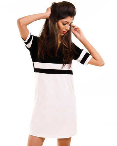 JetBlack Color Cotton Womens Dress - HTTS1087