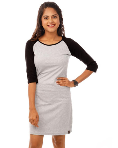 JetBlack Color Cotton Womens Dress - HTTS1088