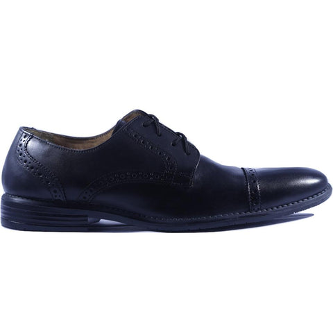 Black Color Leather Men Shoe - HWBBL1
