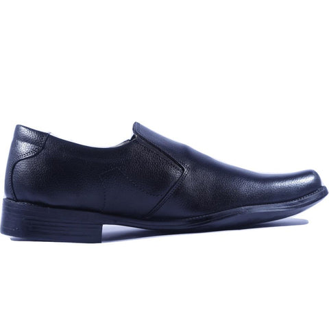 Black Color Leather Men Shoe - HWBC1