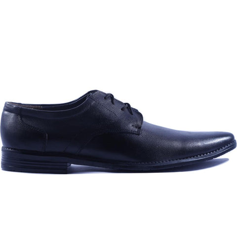 Black Color Leather Men Shoe - HWBL1