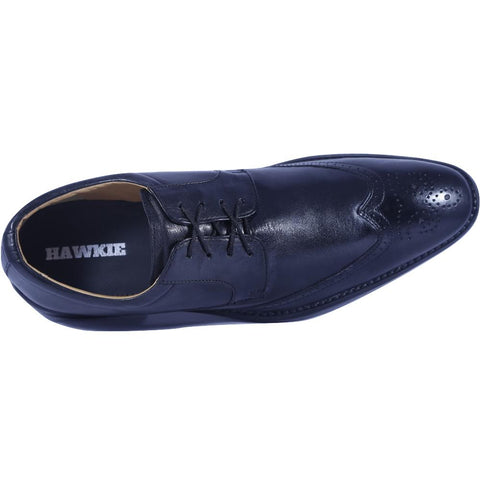 Black Color Leather Men Shoe - HWBQBL1
