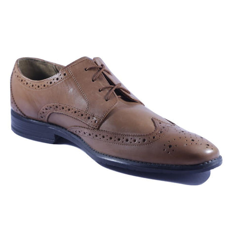 Tan Color Leather Men Shoe - HWBTL1