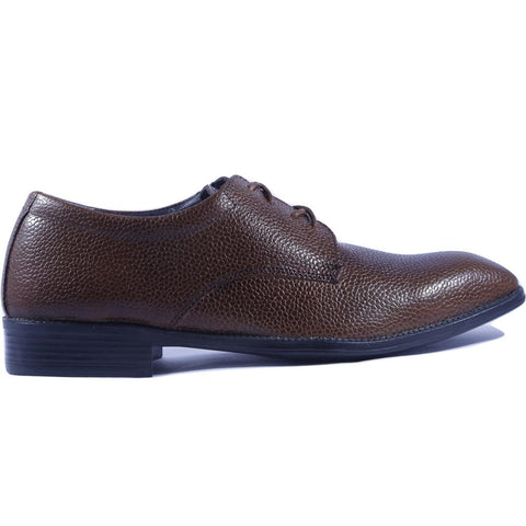 Brown Color Leather Men Shoe - HWDLS1