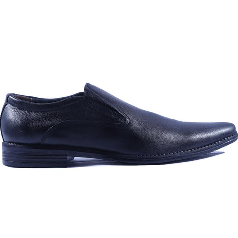 Black Color Leather Men Shoe - HWSC1
