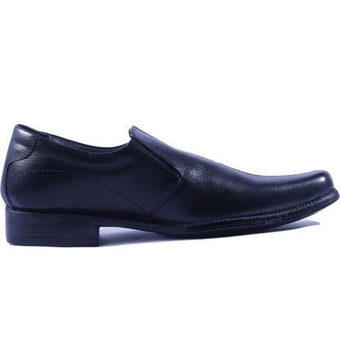 Black Color Leather Men Shoe - HWSMC1