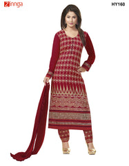 Red Color Georgette Semistitched Salwar