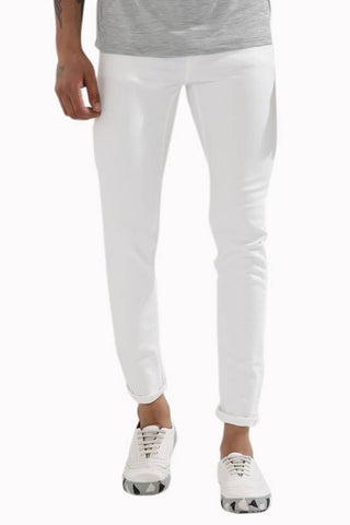 Halogen Skinny Men's White Denim Jeans - Hal025