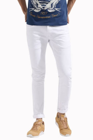 Halogen Skinny Men's White Denim Jeans - Hal026