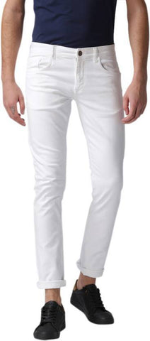 Halogen Skinny Men's White Denim Jeans - Hal027