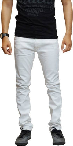 Halogen Skinny Men's White Denim Jeans - Hal20
