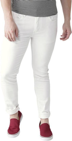 Halogen Slim Men's White Denim Jeans - Hal40